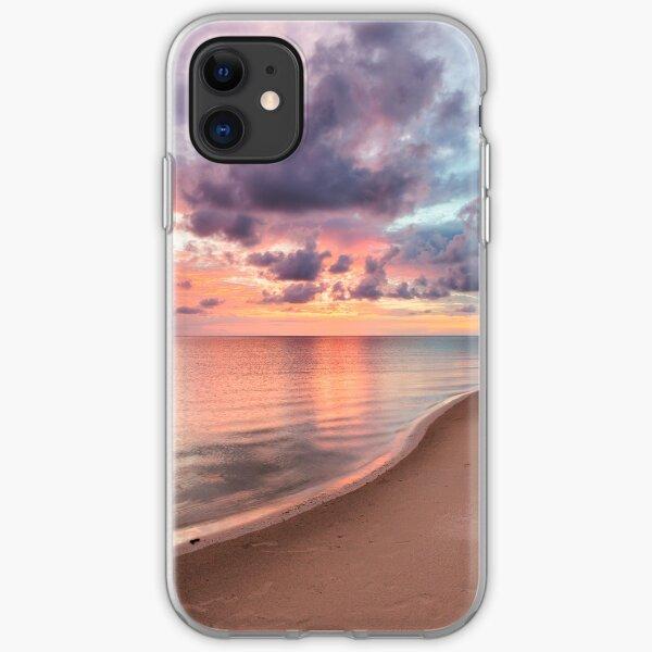 Beautiful vivid sunset at paradise beach iPhone Soft Case