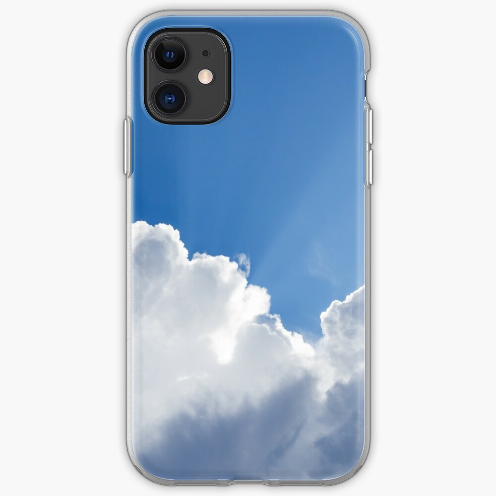 Sun rays shining behind cloud in the sky iPhone Case & Cover