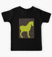 """The Year Of The Horse"" Clothing Kids Tee"