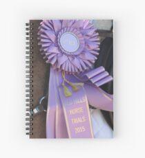 Purple Ribbon Spiral Notebook
