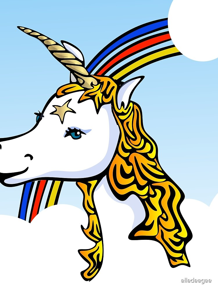 Unicorn and Rainbow by elledeegee