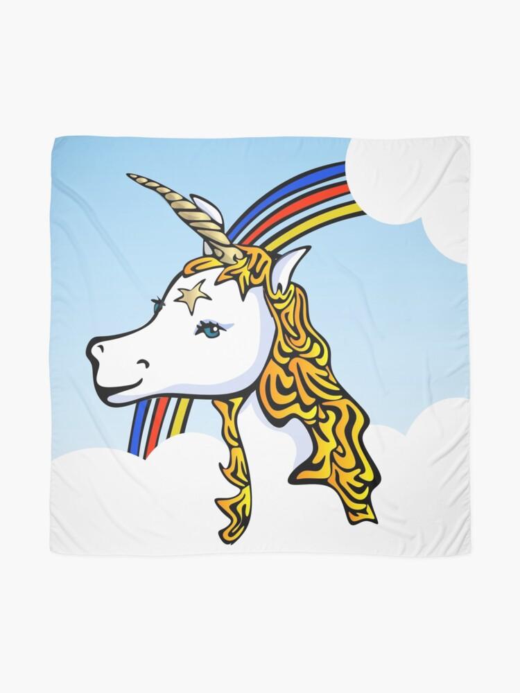 Alternate view of Unicorn and Rainbow Scarf