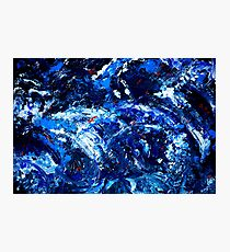 Tsumarmie  organic abstract in blue and white Photographic Print