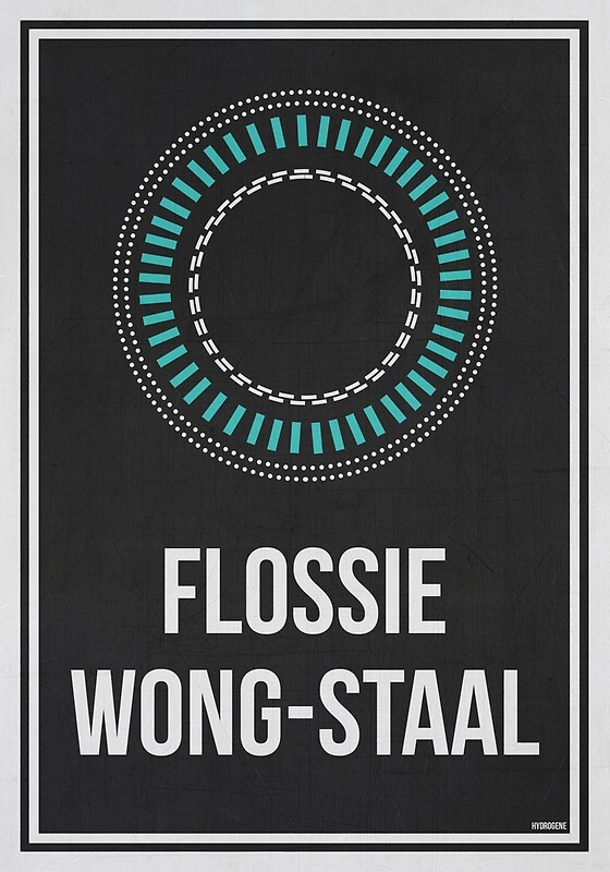 "Science Wall Art flossie wong-staal - women in science wall art"" posters"