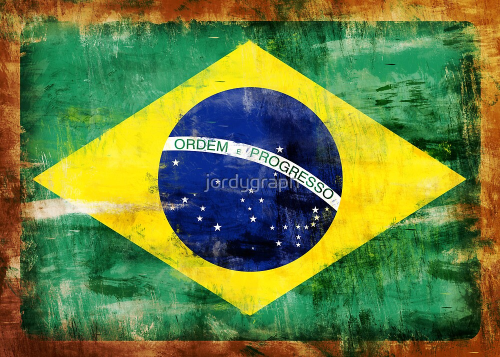 Brazil old painted flag by jordygraph