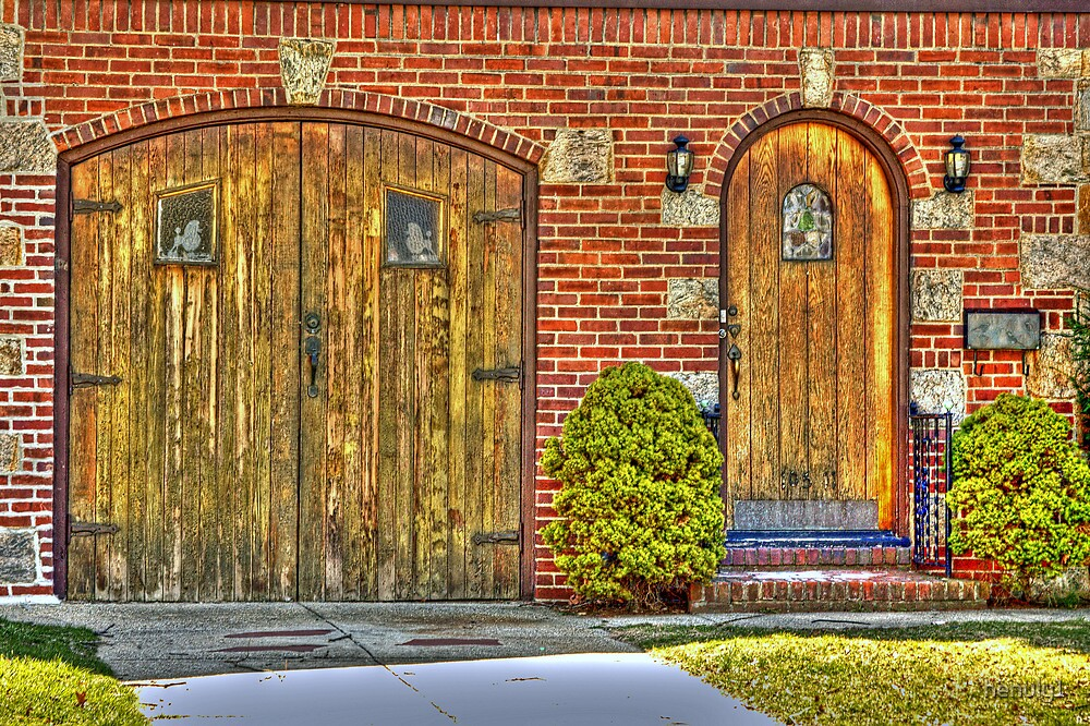 old wooden doors by henuly1