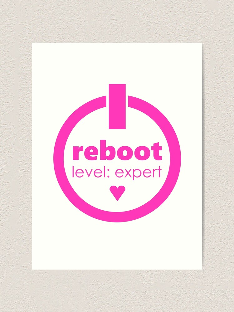 Alternate view of reboot level: expert Art Print