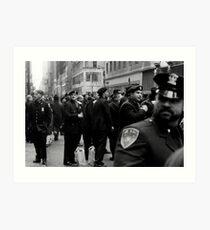 NYC Cops Art Print