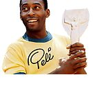 Digitally vectorised old 1970 Pele's photo olding the Jules Rimet trophy. by hypnotzd