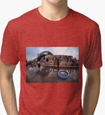 Banksy Orca at Dismaland Tri-blend T-Shirt