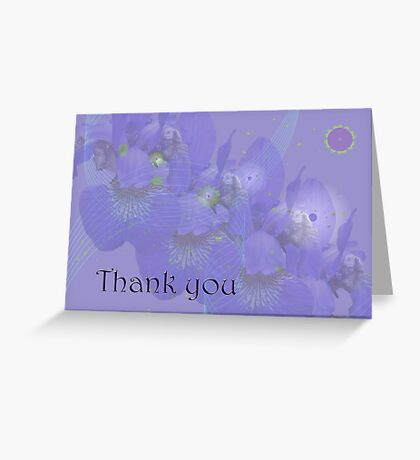 Thank you Greeting Card - Irises in Purple Greeting Card