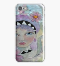 Whimiscal Girl with Purple Hair iPhone Case/Skin
