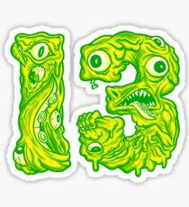 ugly 13 Sticker