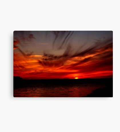 SKY FIRE SUNSET Canvas Print