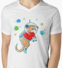 Otter Space  Men's V-Neck T-Shirt