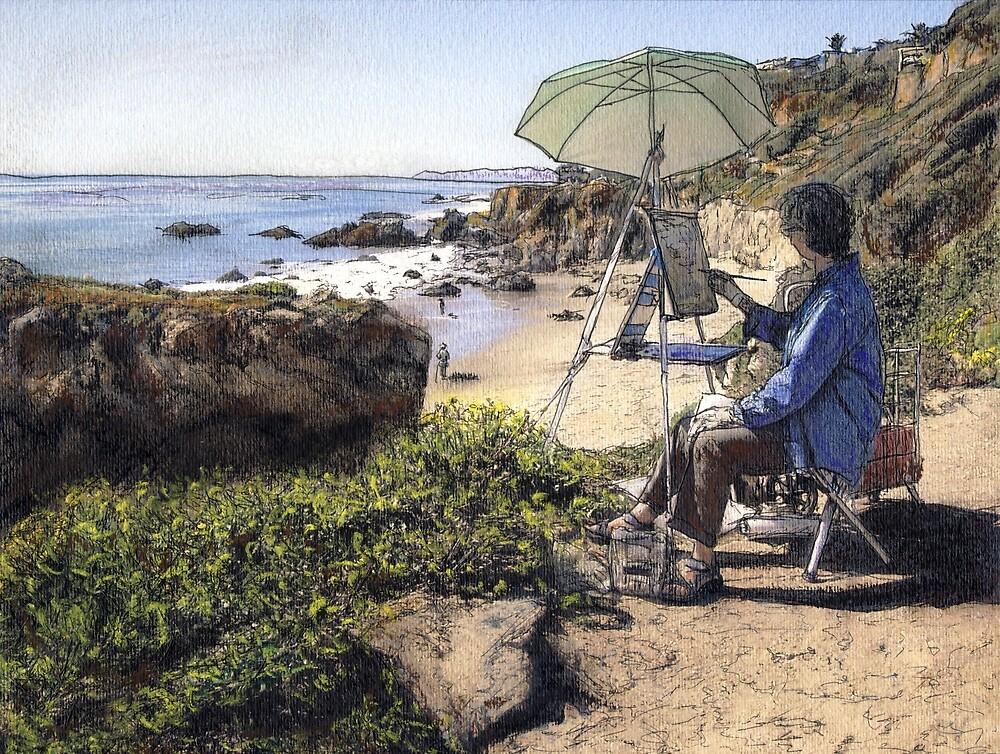 Overlooking El Matador Beach by Randy Sprout