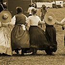 Hoop skirts in Sepia by Larry  Grayam