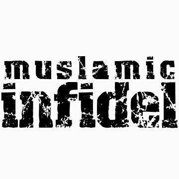 'Muslamic Infidel' Stencil (Black) by alexvegas