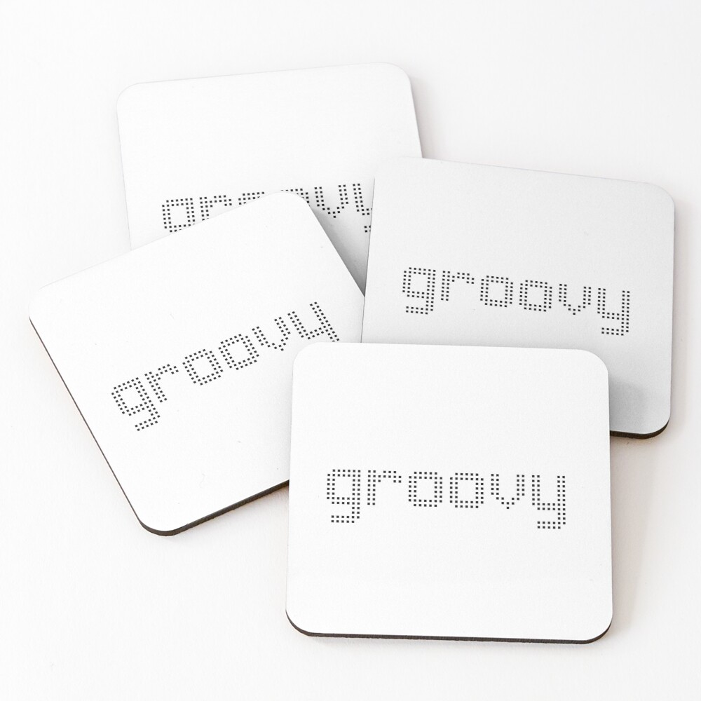 Groovy design Coasters (Set of 4)