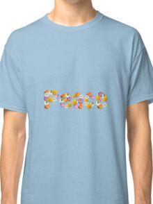 """Floral """"Peace"""" Design Classic T-Shirt"""