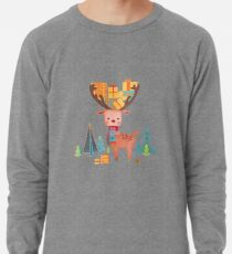 Christmas Deer  Lightweight Sweatshirt