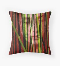 Behind the Bamboo Throw Pillow