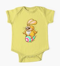 Bunny Sitting on an Easter Egg One Piece - Short Sleeve