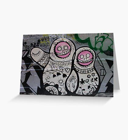 Babushka Wall Art Greeting Card