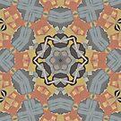 Lattice Bloom Kalo Pattern Design by Jenny Meehan by JennyMeehan