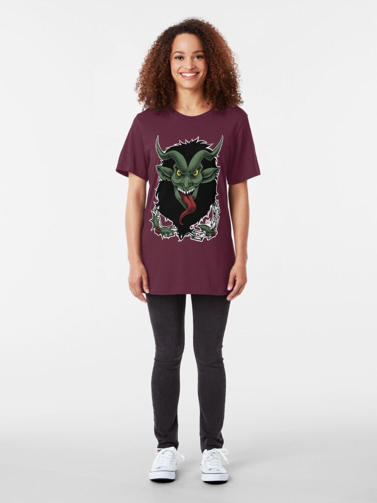 Alternate view of Krampus (Color) Slim Fit T-Shirt