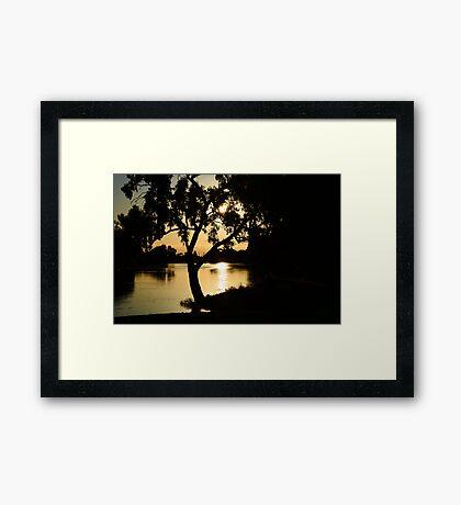 Sunset on Wimmera River Framed Print