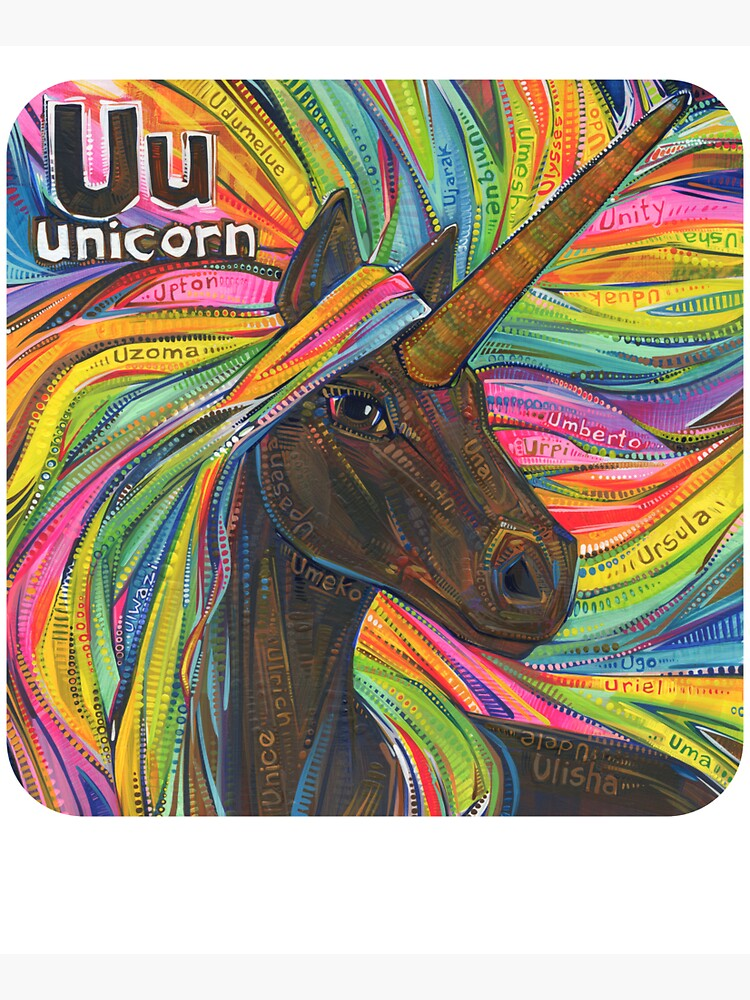 U Is for Unicorn - 2019 by gwennpaints