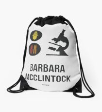 BARBARA MCCLINTOCK (Dark Lettering) - Clothing & Other Products Drawstring Bag