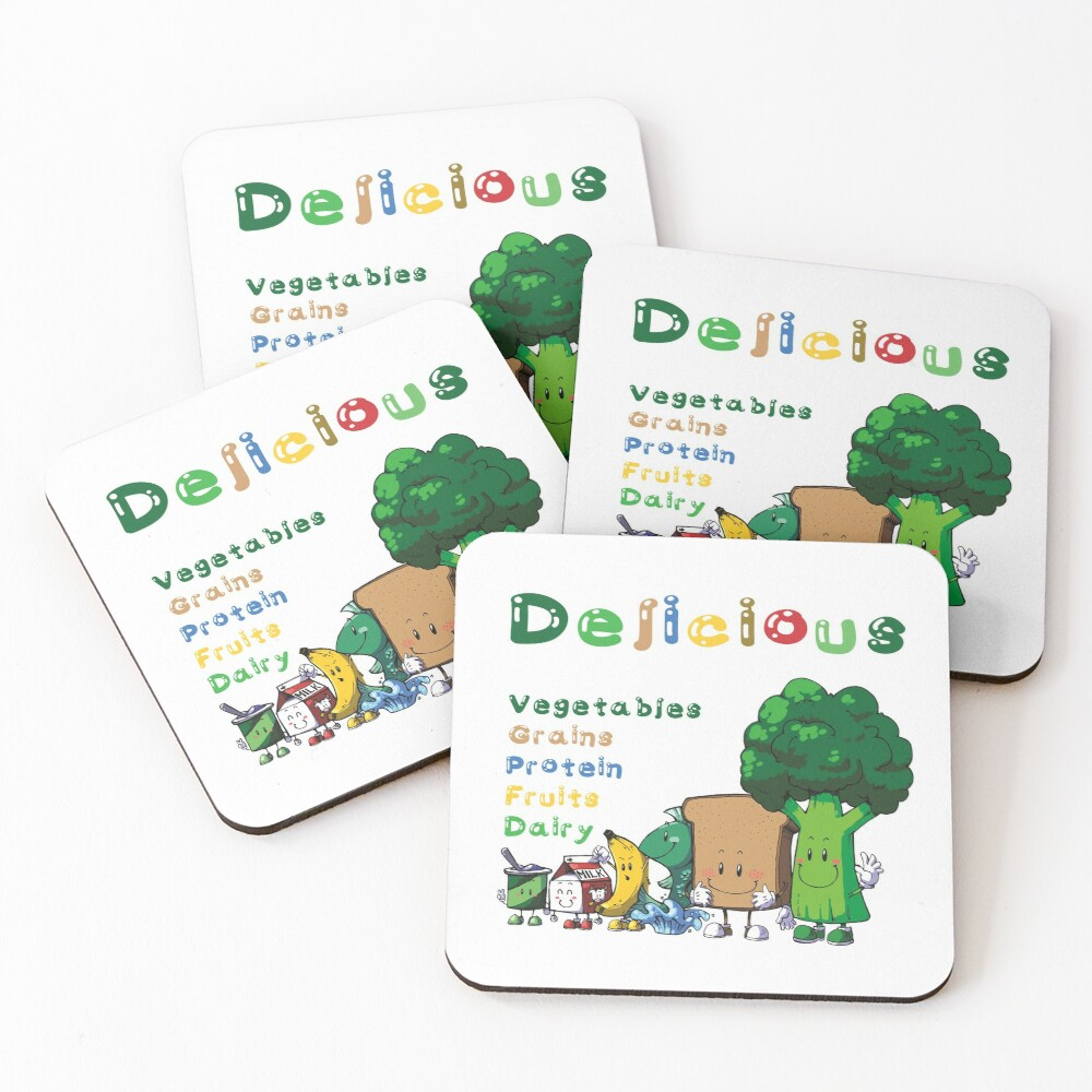 DELICIOUS Food Group T-Shirts PLUS more stuff Coasters (Set of 4)