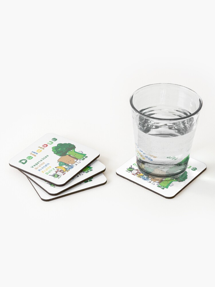 Alternate view of DELICIOUS Food Group T-Shirts PLUS more stuff Coasters (Set of 4)