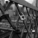 Padlocks on Brooklyn Bridge by dozzie