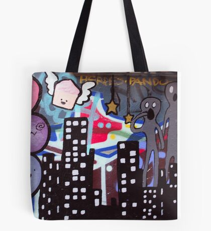 Cupcakes Over My City Tote Bag