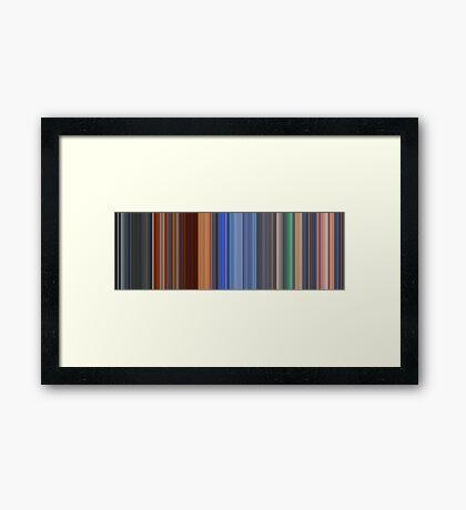 Moviebarcode: Hero (2002) [Simplified Colors] Framed Print