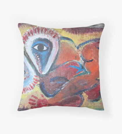 Abstract Loving Throw Pillow