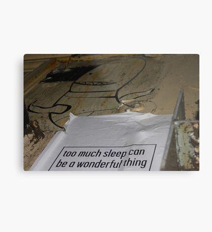 To Much Sleep? Metal Print