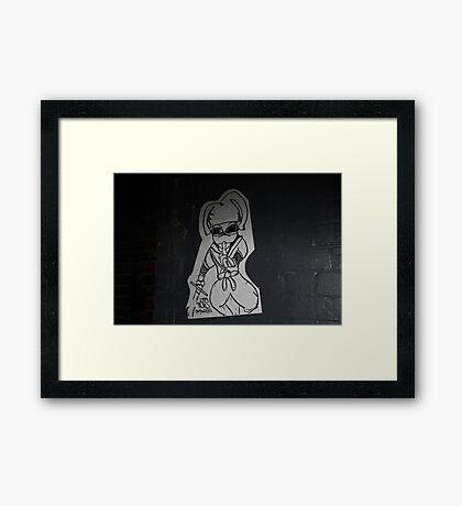 Quiet! Framed Print