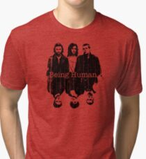 A Vampire, a Ghost and a Werewolf. 1st Generation Tri-blend T-Shirt