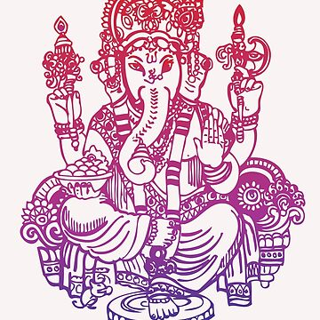 Ombre Indian Ganesh Elephant T-shirt by PipPipHooray