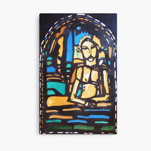 Silkpainting of stained glass window - where in US is it? Canvas Print
