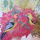 Orioles in Palm Berries by Lynda Earley