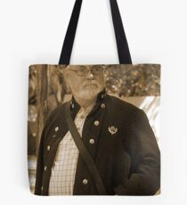 Lost in thought in sepia Tote Bag