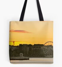 Eastern Beach Just on Sunset Tote Bag