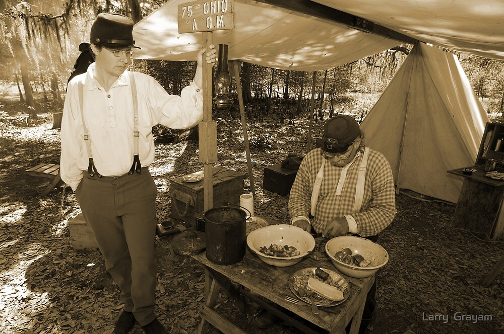Quartermaster in sepia by Larry  Grayam