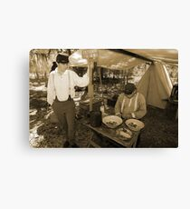 Quartermaster in sepia Canvas Print