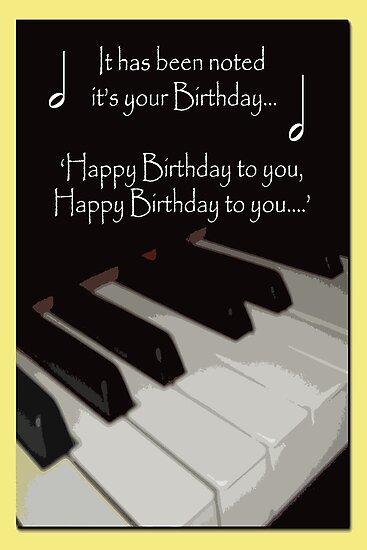 Happy Birthday - Piano card by sarnia2